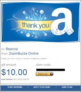 free amazon gift card, zoombucks