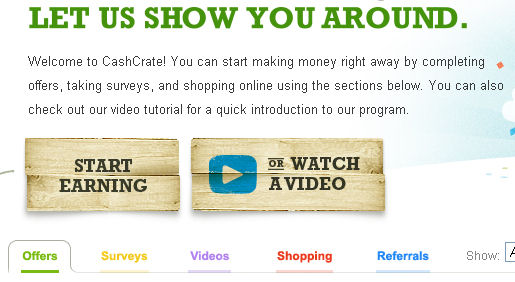 get paid to watch videos on cashcrate