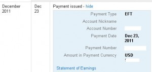 google adsense payment proof , make money online